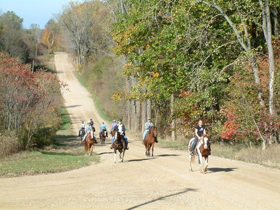 Group of people trail riding on horseback - What to do in South Haven